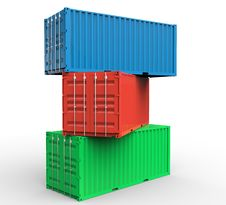 Free Stack Of Cargo Containers Stock Image - 27925461