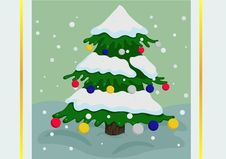 Free Colorful Christmas Tree Stock Photos - 27926953