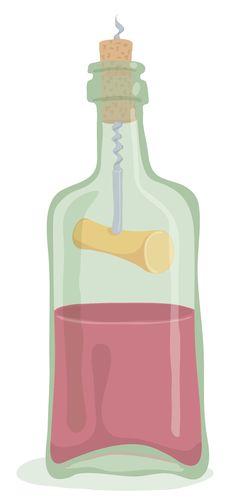 Half Bottle Of Wine Stock Photos