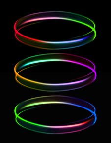 Free Three Rings Of Light Royalty Free Stock Image - 27929186