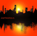 Free Sky Orange In The City Royalty Free Stock Photo - 27931865