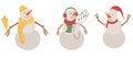 Free Snowmen Set Stock Photos - 27932003