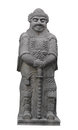 Free Ancient Asian Stone Warrior Statue Isolated. Royalty Free Stock Image - 27936886