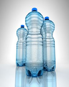 Free Three Bottles Of Water Royalty Free Stock Photos - 27932518