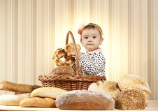 Free Kid Studying Bread Royalty Free Stock Photography - 27933107