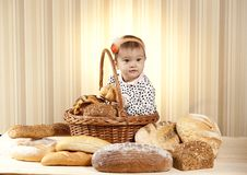 Free Baby Girl Choosing Pastries Royalty Free Stock Images - 27933159