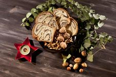 Food For Christmas Celebration Royalty Free Stock Image