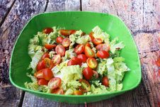 Free Salad With Tomatoes Stock Photos - 27934453