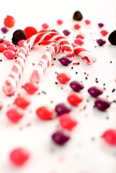 Multiple Candies Collection On White Royalty Free Stock Images