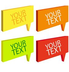 Free Speech Bubbles Colorful Set Stock Image - 27935331