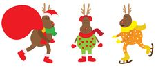 Free Christmas Reindeer Very Funny. Royalty Free Stock Photography - 27935337