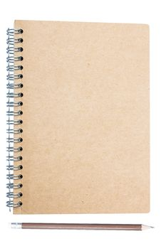 Free Plain Brown Note Book Cover Isolated On White Stock Image - 27935961