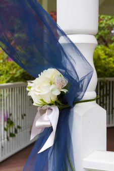 Free Blue Wedding Decor Royalty Free Stock Image - 27936736