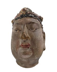 Free Ancient Chinese Head Bust Isolated. Stock Image - 27936881