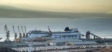 Marine Port Of Eilat, Israel Royalty Free Stock Photo