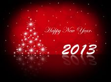 Free Happy New Year 2013. Postcard Royalty Free Stock Photography - 27937807