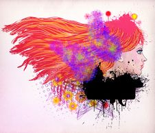 Free Red Haired Girl Illustration Royalty Free Stock Photography - 27938017