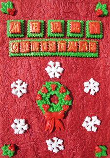 Free Handmade Christmas Card Stock Image - 27938501