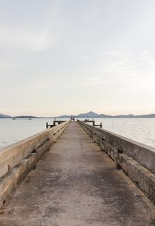Free Very Old Concrete Pier In The Evening, Yamu Bay, Phuket, Thailand Stock Images - 27938954