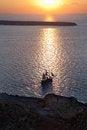 Free Ship Sailing At Sunset Stock Image - 27941491