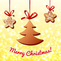 Free Christmas Chocolate On The Lights Background Royalty Free Stock Photography - 27942997