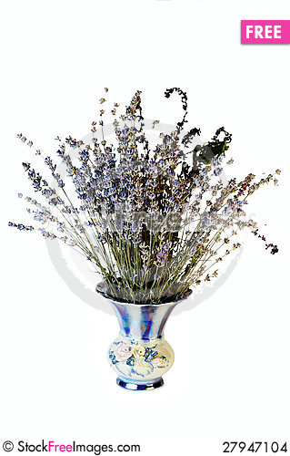 Free Lavender In Vase Stock Images - 27947104