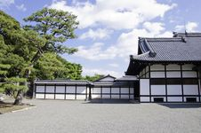 Japanese Architecture, Nijo Castle, Kyoto, Japan Royalty Free Stock Image