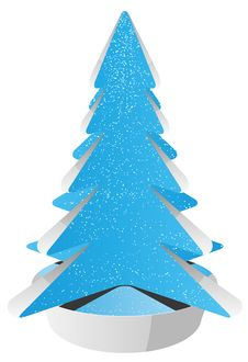 Free Abstract Christmas Tree Royalty Free Stock Photos - 27943338