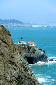 Point Bonita Lighthouse In California, USA Stock Image