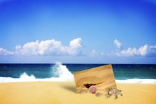 Free Wooden Board Buried In Beach Royalty Free Stock Photography - 27943637