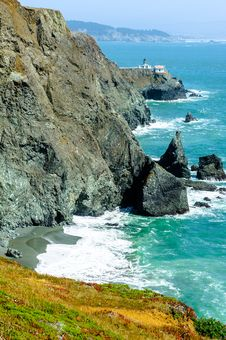 Point Bonita Lighthouse In California, USA Stock Photo