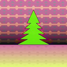 Free Christmas Tree On Pink Horizontal Pattern Royalty Free Stock Photo - 27944465