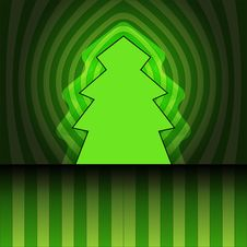 Free Tree Shape On Center Striped Vector Card Stock Photos - 27944543