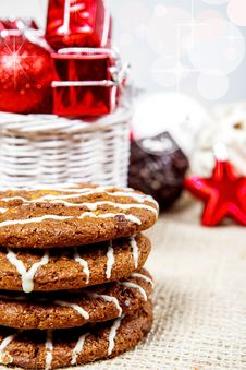 Free Festive Cookies And Decoration Stock Photos - 27944623