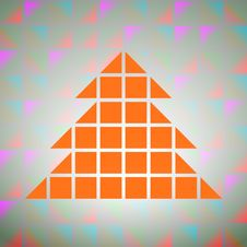 Free Colorful Square Grid With Tree Silhouette Vector Royalty Free Stock Photography - 27944697