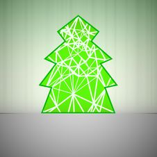 Green Triangular Christmas Tree Network Royalty Free Stock Photography