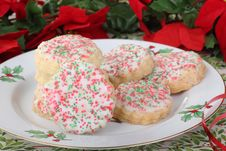 Free Christmas Shortbread Cookies Royalty Free Stock Images - 27944879