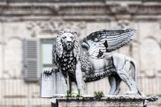 Free The Lion Of Saint Marco, Verona Royalty Free Stock Images - 27946179