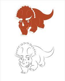 Free Triceratopsus Royalty Free Stock Images - 27948299