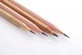 Free Four Wooden Pencils Stock Photo - 27958490