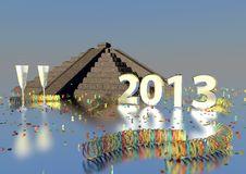 Free 2013 With Maya Pyramide Stock Photography - 27951342