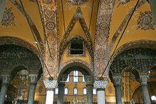Free Interior Of Hagia Sophia Museum Royalty Free Stock Photos - 27951538