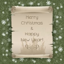 Free Congratulations To The Christmas And New Year Stock Image - 27951901