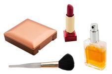 Set Of Makeup Cosmetics Royalty Free Stock Photography