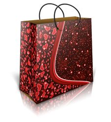 Free Valentines Shopping Bag Royalty Free Stock Image - 27956036