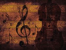 Free Vintage Musical Background With Violin Stock Photo - 27956040