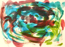 Free Abstract Watercolor Background Stock Photo - 27957410