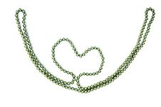 Background Heart Of Of Beads Isolated Stock Image