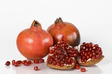 Ripe Pomegranate Fruit Royalty Free Stock Images