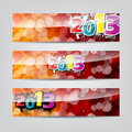 Free New Year Colorful Header And Banner Set Stock Photos - 27962513
